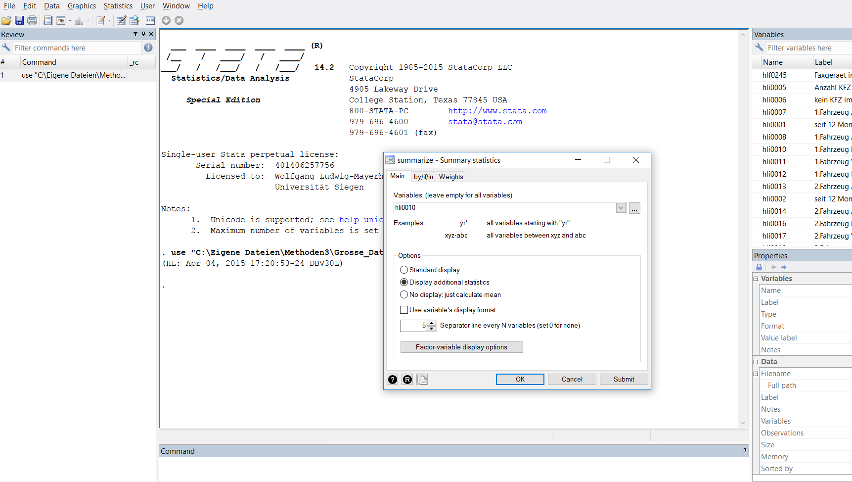 Stata Guide: Working with Stata